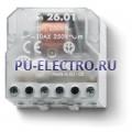 26.01.8.012.0000   260180120000   Импульсное реле, установка в монтажную коробку- 1НО контакт 10А (~ 12В AC)