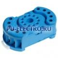 90.22.SMH | 9022SMH | Розетка для реле 60.12- с комбинированными контактами- с металлическим фиксатором- винтовые зажимы- синяя- 10А