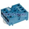 90.27.SMA | 9027SMA | Розетка для реле 60.13- с комбинированными контактами- с металлическим фиксатором- винтовые зажимы- синяя- 10А