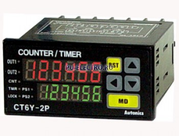 CT6Y-1P2 24VAC 50/60Hz /24-48VDC Счетчик/таймер