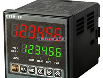 CT6M-2P4 100-240VAC Счетчик/Таймер, размер 72x72x85