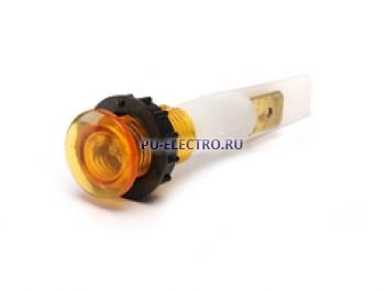 Сигнальная арматура 10мм желтая с зажим. MS и с неон. лампой