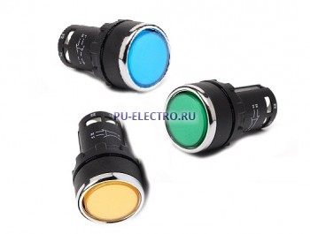 Кнопки нажимные EMAS 22 мм серии MB IP40