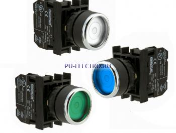 Нажимные кнопки EMAS 22 мм серии В c фиксацией IP50