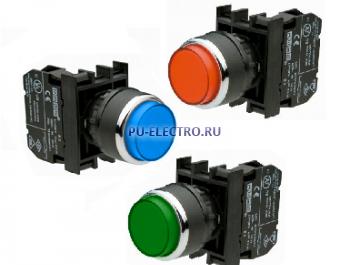 Нажимные кнопки EMAS 22 мм серии В выступающие IP50