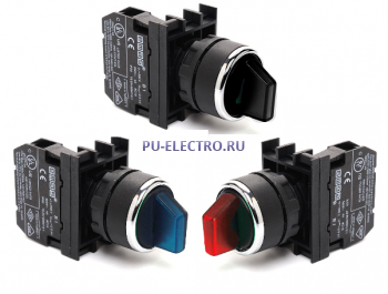Переключатели с подсветкой EMAS 22 мм серии В IP50
