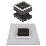 S3QPFS-P1 Квадратные кнопки нажатия без подсветки, утопленный тип,  30 мм