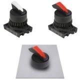 S2SRN-S Селекторные переключатели без подсветки, выступающего типа ,с ручкой Shark, 22/25 мм