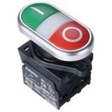 Двойные кнопки, выступающий тип, диаметр 22/25 мм