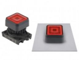 S2PRS-P3 Квадратные кнопки нажатия с подсветкой, выступающего типа