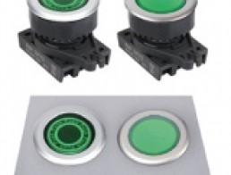 S3PF-P3 Кнопки нажатия с подсветкой, утопленный тип, диаметр 30 мм