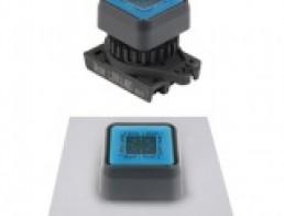 Контрольные лампы, квадратный плоский плафон, выступающие