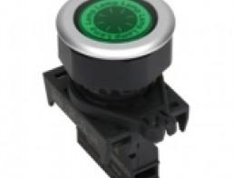 Контрольные лампы утопленного типа, плоский плафон, диаметр 30 мм