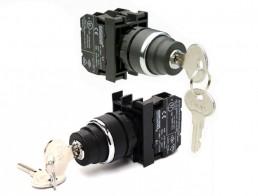 Кнопки с ключом EMAS 22 мм серии B IP50